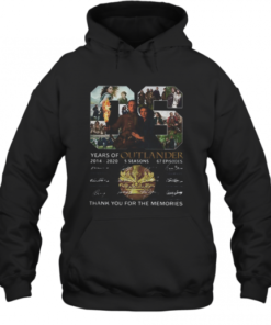06 Years Of Outlander 2014 2020 Signatures Quality Quality Hoodie