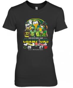 2020 Rose Bowl Game Champions Oregon Vs Wisconsin Premium Women's Quality T-Shirt
