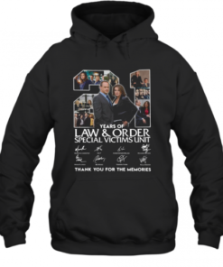 21 Years Of Law And Order Special Victims Unit Thank You For The Memories Signatures Quality Quality Hoodie