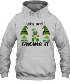 3 Irish Gnomes Leprechauns Shamrocks St Patricks Day Quality Quality Hoodie