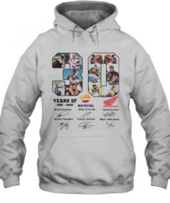 30 Years Of 1990 2020 Repsol Mick Doohan Honda Signature Quality Quality Hoodie