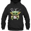 Baby Yoda Hug Pink Floyd Quality Quality Hoodie