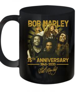 Bob Marley 75Th Anniversary 1945 2020 Signature Quality Mug 11oz
