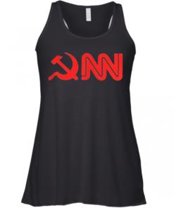 CNN Fake News Funny Parody shirt Racerback Tank