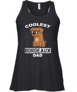 Coolest Bordeauxdogge Dad Lustiger Hund Racerback Tank