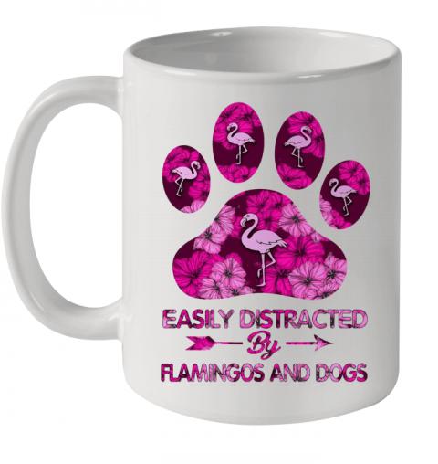 Easily Distracted By Flamingos And Dogs Quality Mug 11oz