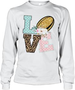 Love Flower Leopard Quality Long Sleeve Quality T-Shirt