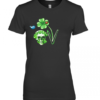 Love Skull Shamrock Bird Premium Women's Quality T-Shirt