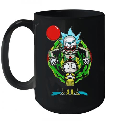 Pennywise IT Mashup Rick And Morty Halloween Quality Mug 15oz