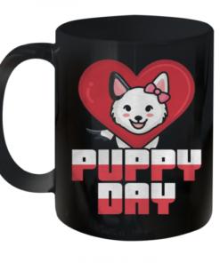Puppy Day – Dog Heart Kids Quality Mug 11oz