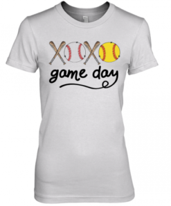 Xoxo Baseball Game Day Premium Women's Quality T-Shirt