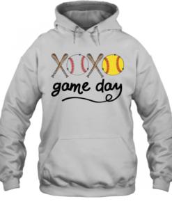 Xoxo Baseball Game Day Quality Quality Hoodie