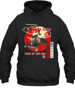 Year Of Rat 2020 Chinese New Year Tattoo Art Quality Quality Hoodie