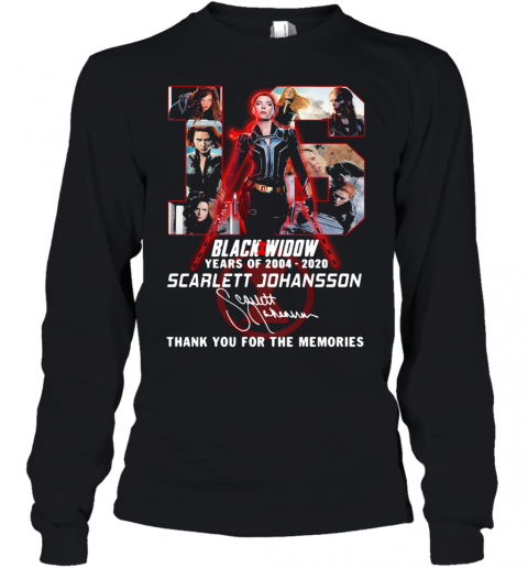 Black Widow 16Th Years Of 2004 2020 Scarlett Johansson Signature Youth Quality Long Sleeve