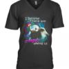 Elephants I Believe There Are Angel Among Us V-Neck Quality T-Shirt