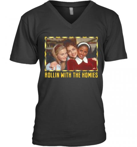 Fuera De Onda Rollin With The Homies V-Neck Quality T-Shirt