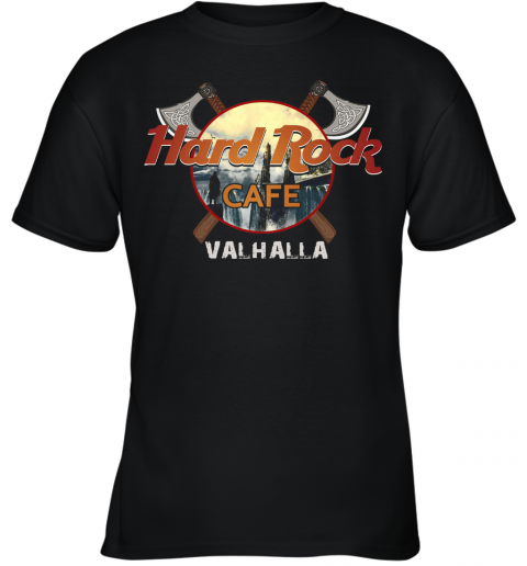 Hard Rock Cafe Valhalla Youth Quality T-Shirt