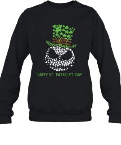 Jack Skellington Happy St.patrick's Day shirt Quality Sweatshirt