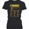 Longmire 2012 2017 6 Seasons 63 Episodes Thank You For The Memories Signature Women's Quality T-Shirt
