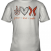 Peace Love Easter Bunny Youth Quality T-Shirt