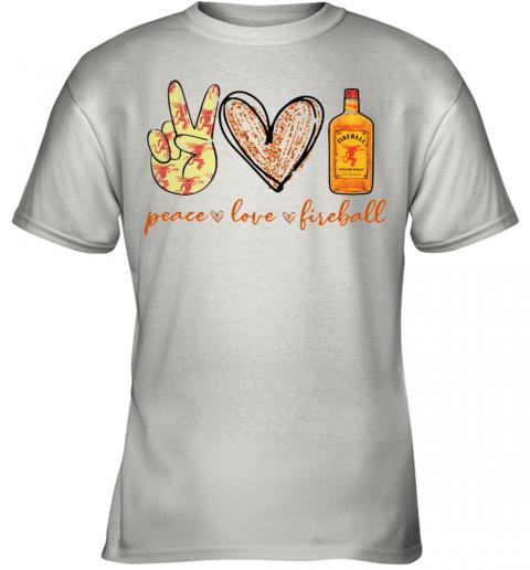 Peace Love Fireball Youth Quality T-Shirt