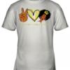 Peace Love Melanin Youth Quality T-Shirt