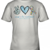 Peace Love Understand Autism Awareness Youth Quality T-Shirt