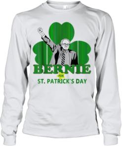 Top Bernie Sanders For St. Patricks Day 2020 President Shamrock Youth Quality Long Sleeve
