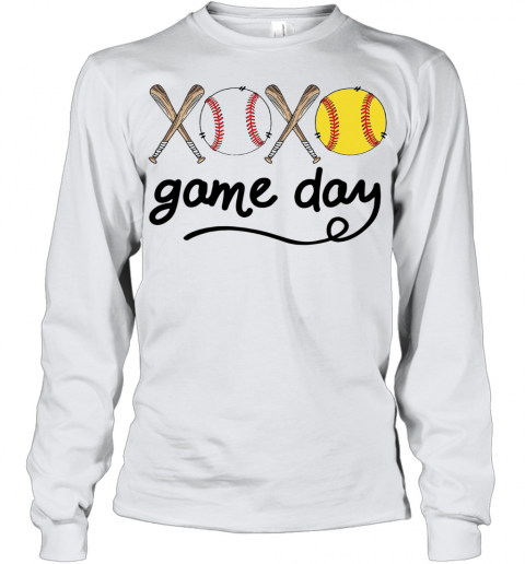 Xoxo Baseball Game Day Youth Quality Long Sleeve